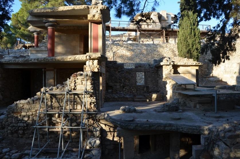 Poziomy ruin w Knossos Kreta