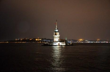 Wysepka Kiz Kulesi w Stambule Turcja