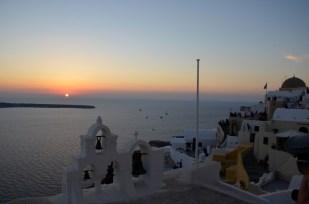 Zachód słońca w Oia 2 Santorini