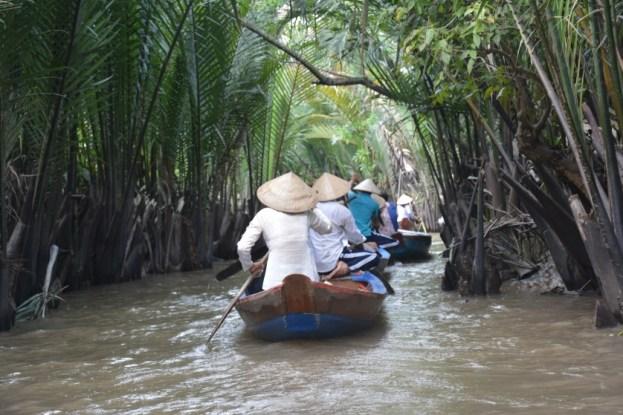 Delta Mekongu łodzią wiosłowaną Wietnam