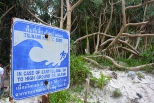 Phi Phi znak tsunami Tajlandia