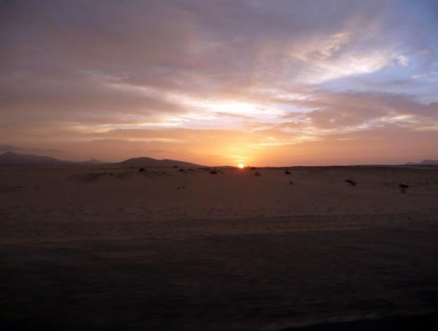 Zachód słońca Fuerteventura
