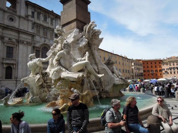 Fontanna na Piazza Navona Rzym