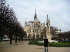 Katedra Notre Dame tył Paryż