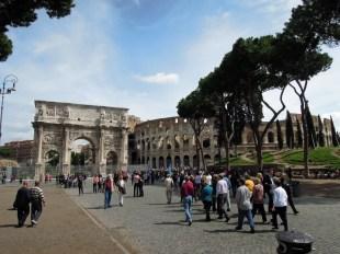 Łuk Konstantyna i Koloseum Rzym