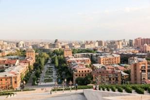 Panorama Erywania Armenia