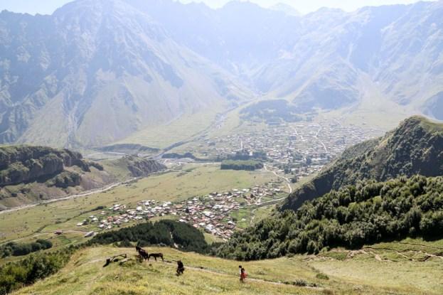 Trekking pod Kazbek Gruzja