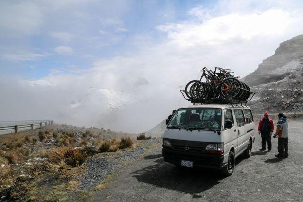Droga Śmierci start na wysokości 4700 m n.p.m. Boliwia