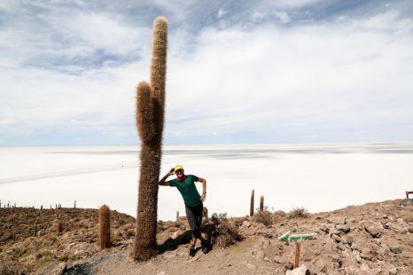Kaktusy na Salar de Uyuni Boliwia