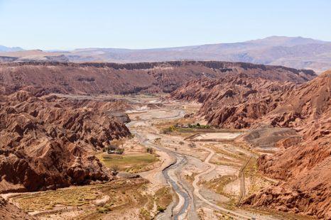 Kanion w pobliżu San Pedro de Atacama Chile