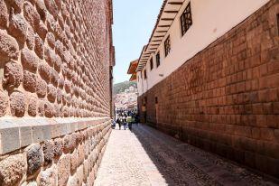 Mury kolonialne i inkaskie Cusco Peru