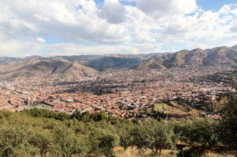 Panorama Cusco z Sacsayhuaman Peru