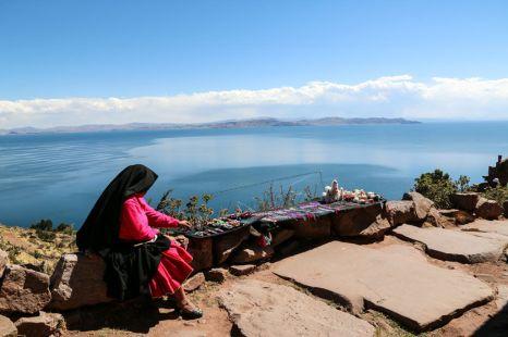 Panorama Jezioro Titicaca Peru