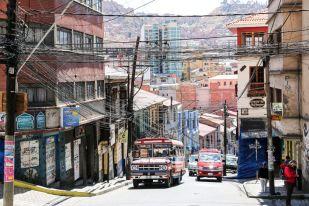 Strome uliczki La Paz Boliwia