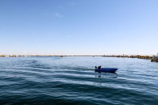Wyspy Uros jezioro Tticaca Peru