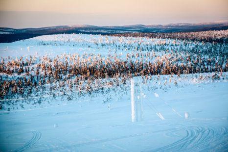 Widoki ze szczytu góry Kaunispää Finlandia
