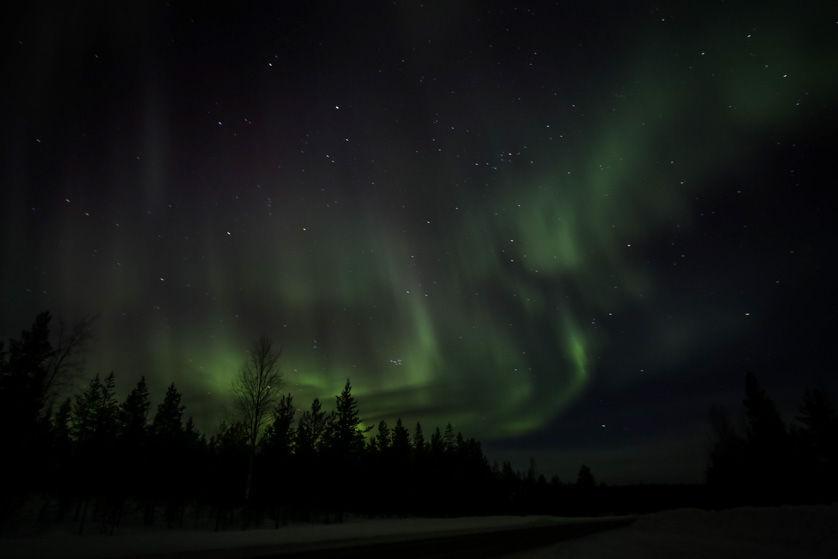 Zorza polarna Finlandia 8