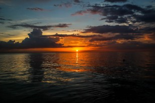 Zachód słońca Hawana Kuba