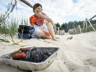 Grill na plaży w Lubiatowie
