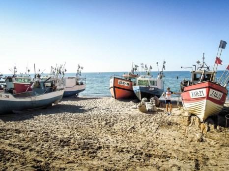 Kutry na plaży w Jarosławcu