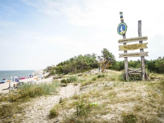 Plaża w Rowach przy Słownińskim Parku Narodowym