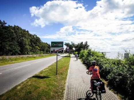 Ścieżka rowerowa na Półwyspie Helskim