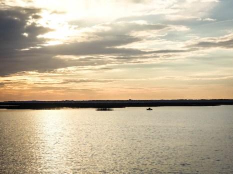 Zachód słońca nad Jeziorem Łebsko 2