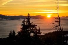 14 Zachód słońca z Turbacza 2