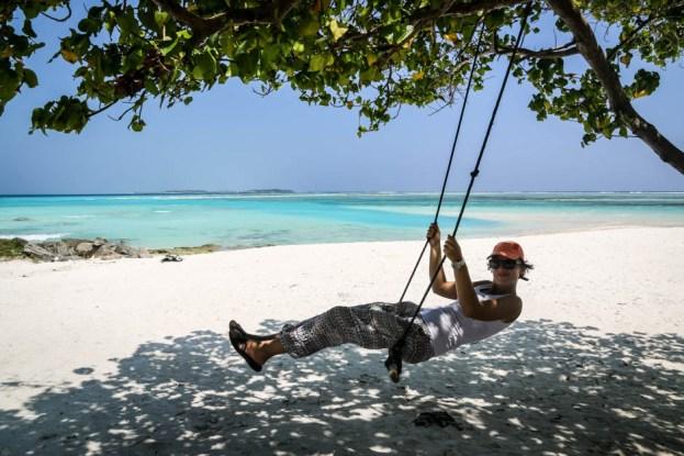 Maafushi Malediwy na plaży 3