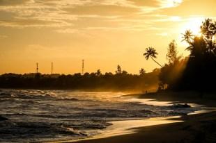 Tangalle Sri Lanka zachód słońca