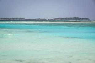 Widok na wyspę resort z Maafushi Malediwy
