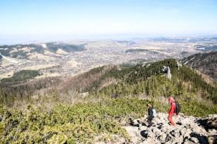 Tatry wiosną Sarnia Skała panorama Zakopanego