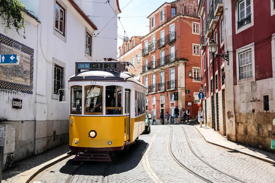 Lizbona tramwaj linii 28