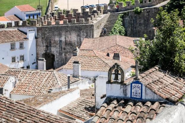 Portugalia Obidos dachy