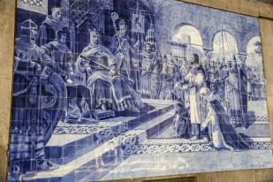 Portugalia Porto płytki azulejos na Dworcu Sao Bento