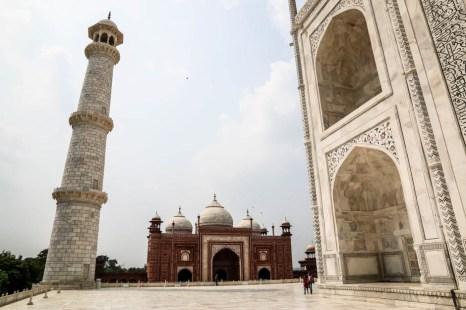 Indie Agra Taj Mahal minarety