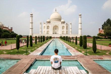Indie Agra Taj Mahal symetria 2