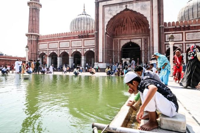 Indie Old Delhi meczet Jama Masjid 2