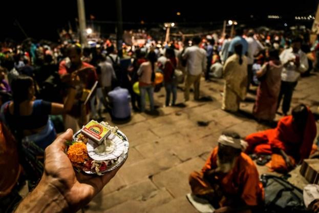 Indie Waranasi rytuał Ganga Aarti