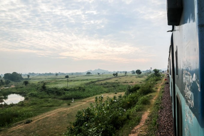 Indie pociąg do Khajuraho