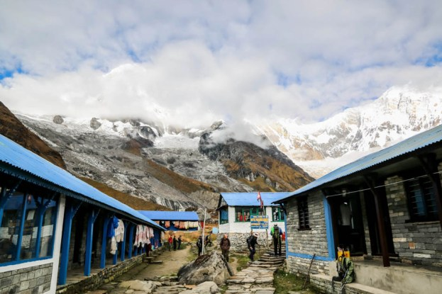 Nepal Annapurna Base Camp panorama 2