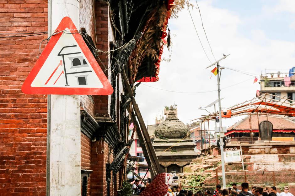 Nepal Kathamandu rusztowania