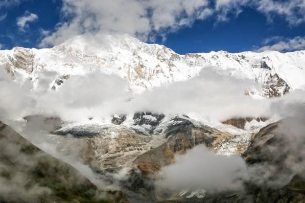 Nepal masyw Annapurny widoczny z ABC