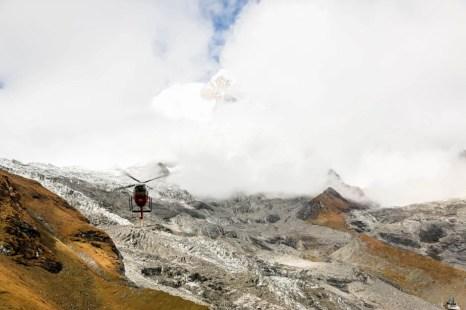 Nepal trekking Annapurna Base Camp helikopter
