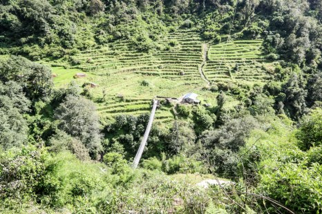 Nepal trekking do ABC most za Chhomrong