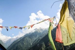 Nepal trekking do ABC widok z Siwai