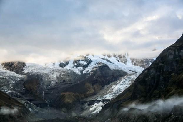 Nepal trekking do ABC widoki z obozu