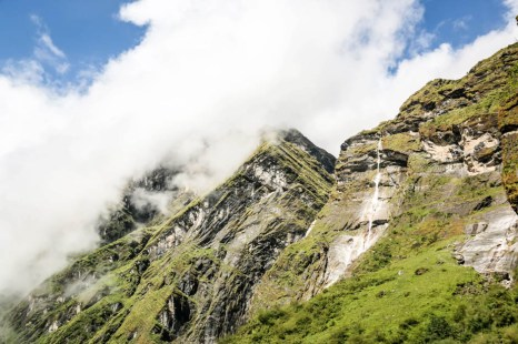 Nepal trekking do ABC wodospady 2