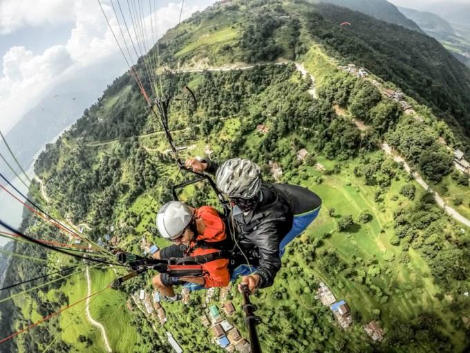 Nepal Pokhara lot paralotnią 5