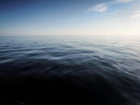 Spokojny Bałtyk w drodze do Kołobrzegu